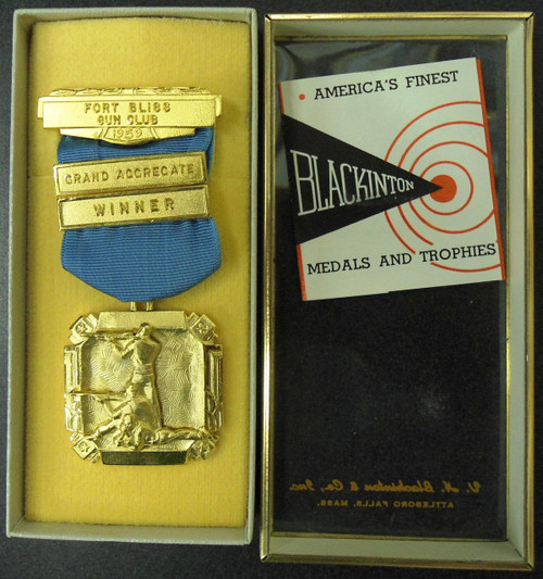 Fort Bliss Gun Club Grand Aggregate Winner 1959 Medal w/Box