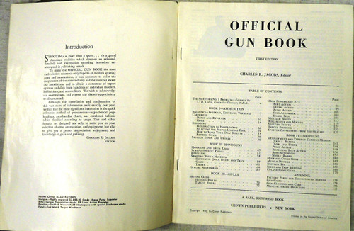 Official Gun Book by Charles R. Jacobs