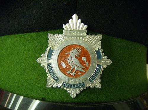 Guyana Defense Force Visor Cap w/Hat Badge