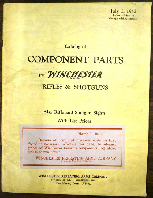 Catalog of Component Parts for Winchester