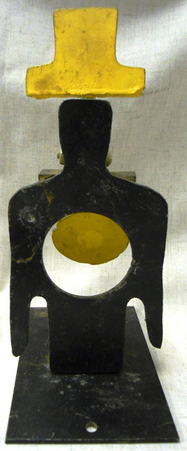 Steel Man Silhouette with Hat Target