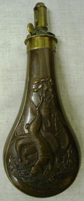 James Dixon & Sons Brass Shotgun Flask