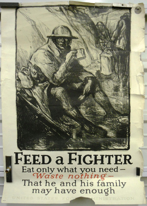 Feed A Fighter WWI Poster
