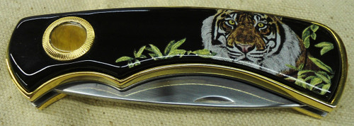 Franklin Mint Siberian Tiger Pocket Knife
