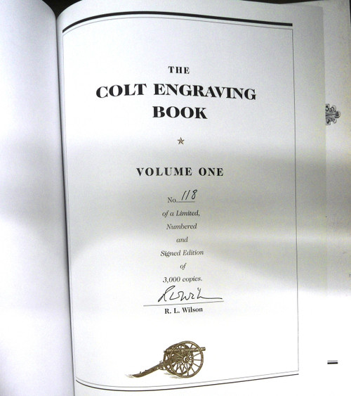 The Colt Engraving Book Vol. I by R.L. Wilson *SIGNED*