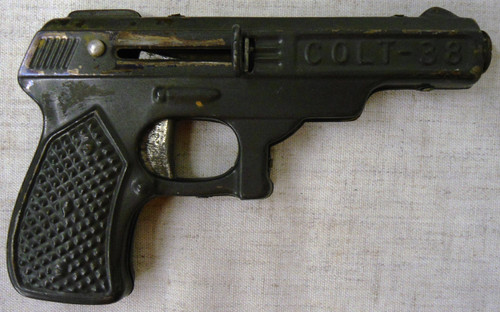 Colt 38 Tin Toy Dart Gun circa 1960's