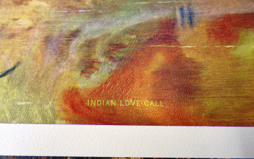 "Charles M. Russell Print Titled ""Indian Love Call"""