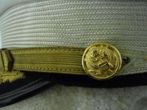 U.S. Korean War Era Army Officers Visor Cap w/Hat Badge