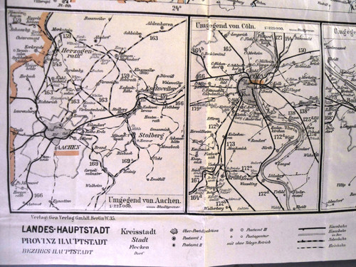 German WWI 1917 Postal Map