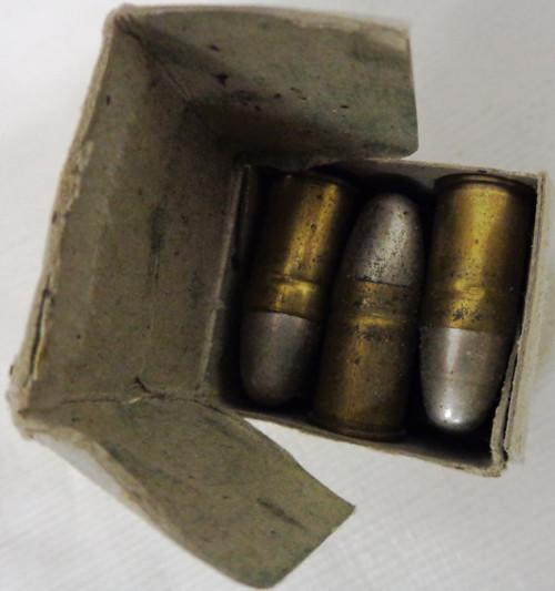 British I.S.A.A. .455 Inch MK VI Cartridge Box and Ammo