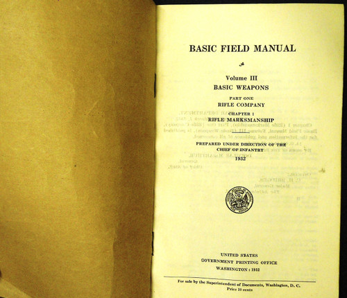 Basic Field Manual 1932 Vol. III, Part 1, Ch. 1