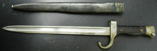 French M1892 Cut-Down Bayonet w/K98 Scabbard