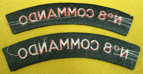 British No. 8 Commando Tabs