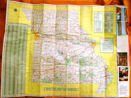 Missouri Official Highway Map 1967