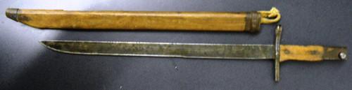 Japanese M1897 Arisaka Bayonet w/Wooden Scabbard