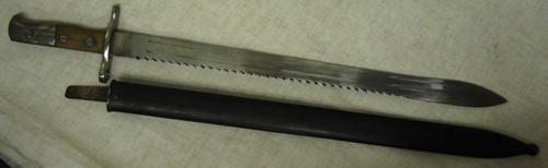 Swiss Model 1911 Pioneer Schmidt-Rubin Bayonet withMetal Scabbard