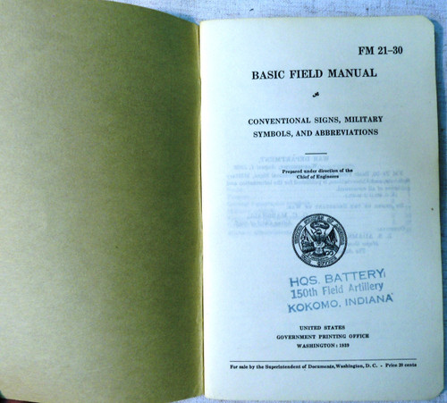 FM 21-30 Basic Field Manual 1939