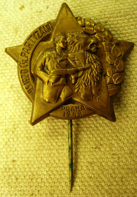 Czech Partisan Lapel Pin
