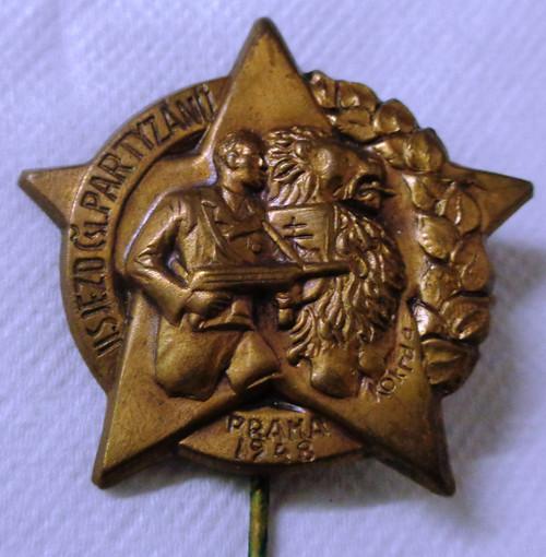 Czech Partisan Lapel Pin