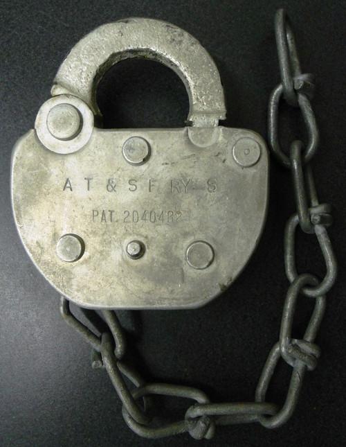 Adlake AT & SF RY-S Padlock - NO Key