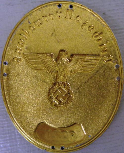 German WWII Nazi Police Sleeve Badge No. 9020