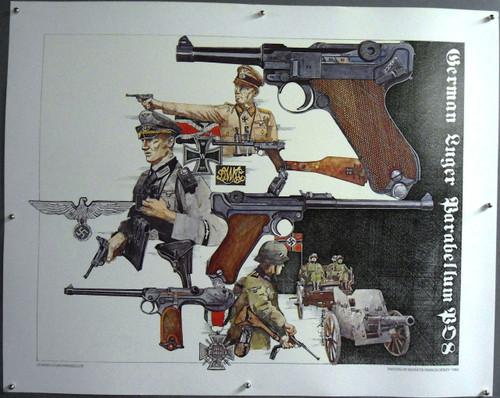 """Kenneth Francis Dewey """"Luger Parabellum"""" Print"""
