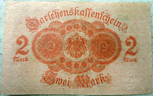 German Pre-WWII Sivei Mark 2 Paper Currency