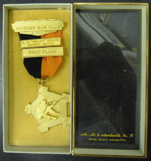 Ruidoso Gun Club 1957 First Place Medal w/Box