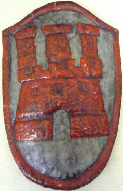 Armor Breast Plate Wall Hanger depicting a Red Castle