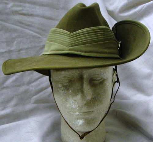 John Bardsley Australian Akubra Slouch Hat with Rising Sun Map Hat Badge