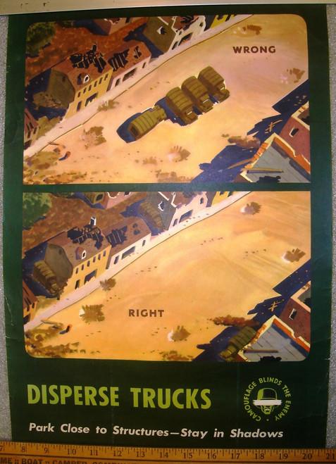 Disperse Trucks WWII Poster
