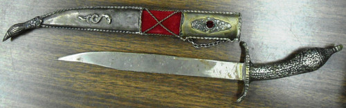 "India Tourist Knife marked ""1821"" with Decorative Sheath"