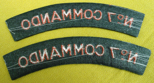 British No. 7 Commando Tabs