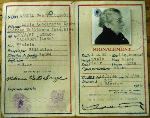 French State WWII Identity Card