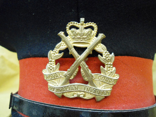 Australian Royal Corps Infantry Cap with Hat Badge