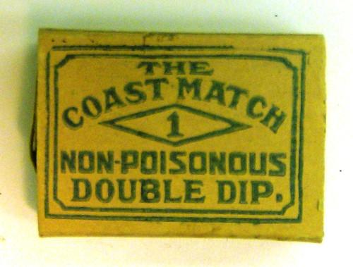 Diamond Coast Matches - 1910 - top