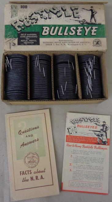 NRA Bustible Bullseye Targets w/Original Box