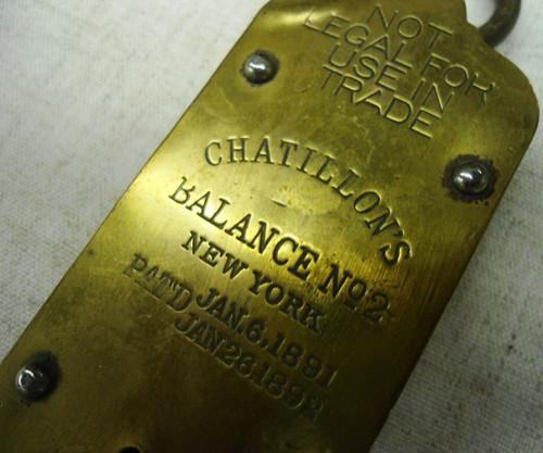 Chatillon's 50 lb. Spring Balance Scale circa 1890's