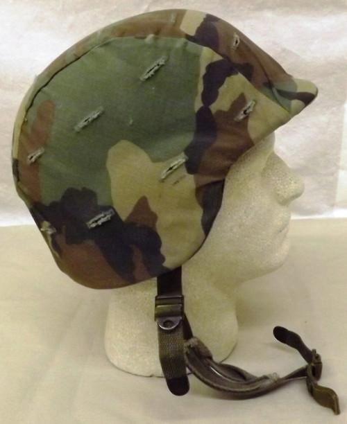 U.S. Army PASGT M8 Kevlar Helmet w/Woodland Camo Cover