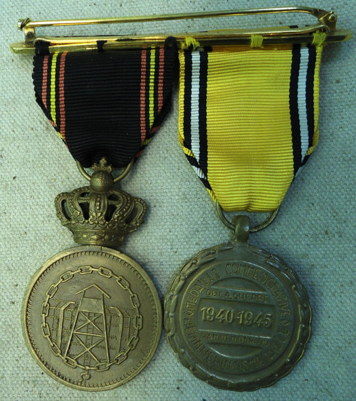 Belgium WWII Medals with Bar
