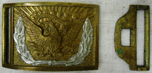 Civil War Pattern 1851 2-Piece Eagle Sword Belt Buckle