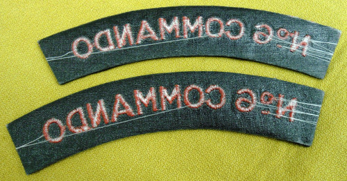 British No. 6 Commando Tabs
