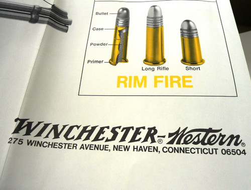 Winchester Rifles/Winchester-Western Cartridges Chart