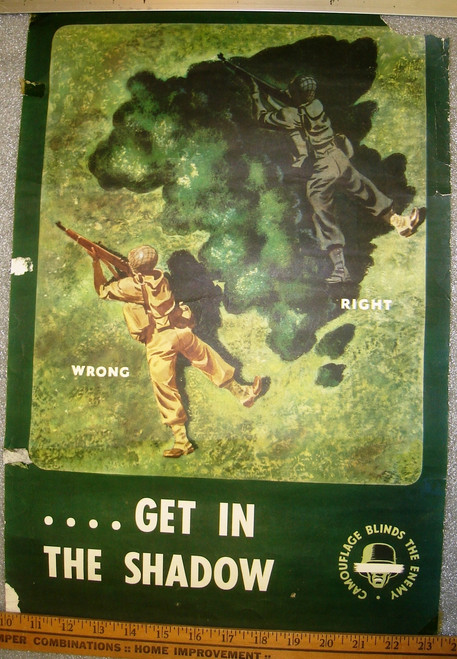 Get in the Shadow WWII Poster