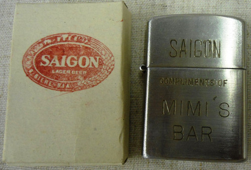 Saigon Lager Beer Heit Lighter made in Japan with original box