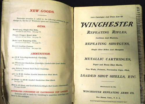 Winchester Catalog No. 80 * 1916 - Salesman's Copy