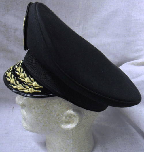 Cambodian Navy Officer's Cap w/Hat Badge