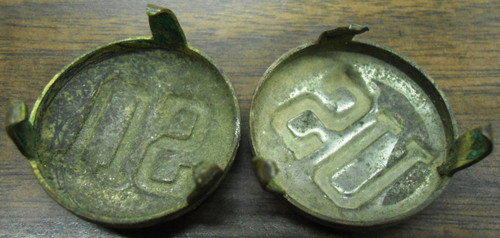 U.S. WWI Mule Bridle Brass Medallions - set of 2