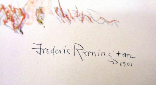 """Frederick Remington Print titled """"A Cheyenne Buck"""""""