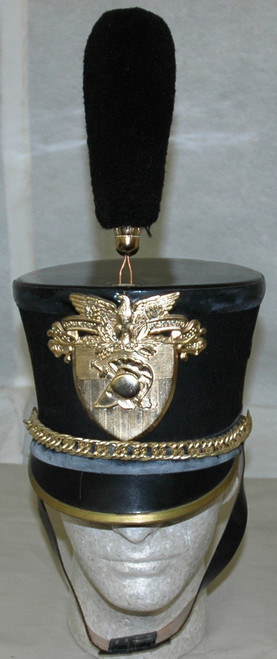 U.S. West Point Cadet Dress Shako Hat w/Plume circa 1969